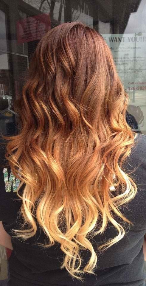 hell orange haare
