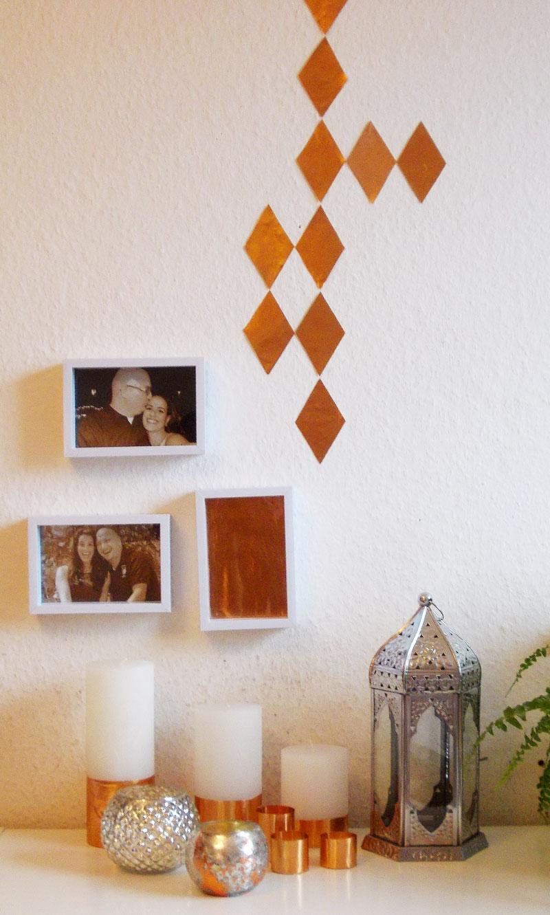 diy kupfer deko kerzen. Black Bedroom Furniture Sets. Home Design Ideas