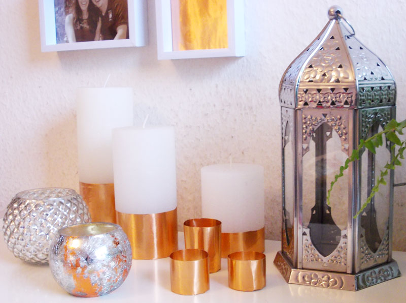 Diy dekoration kupfer kerzen for Dekoration kupfer