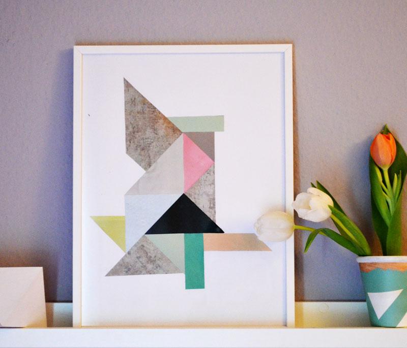 diy fr hling geomterisches bild blumentopf. Black Bedroom Furniture Sets. Home Design Ideas