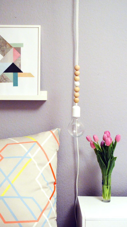diy textilkabellampe h ngeleuchte. Black Bedroom Furniture Sets. Home Design Ideas