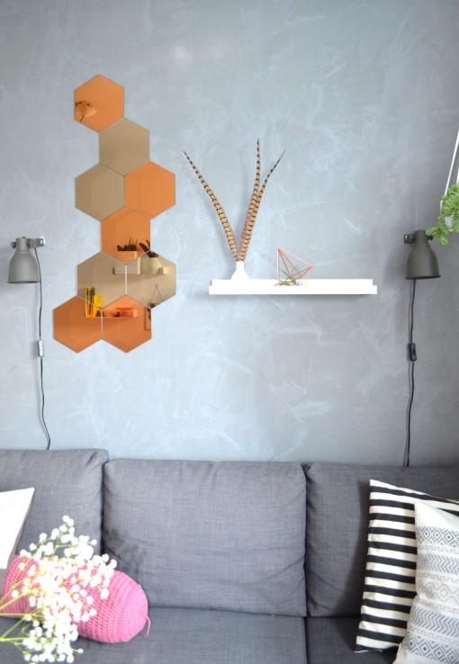 Unser wohnzimmer kupfer akzente orientteppich und ein for Kupfer deko wohnzimmer