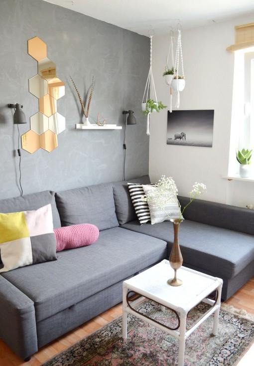 Unser Wohnzimmer: Kupfer Akzente, Orientteppich Und Ein ...
